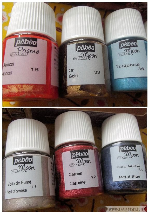 Review Pebeo Fantasy Moon paint colours