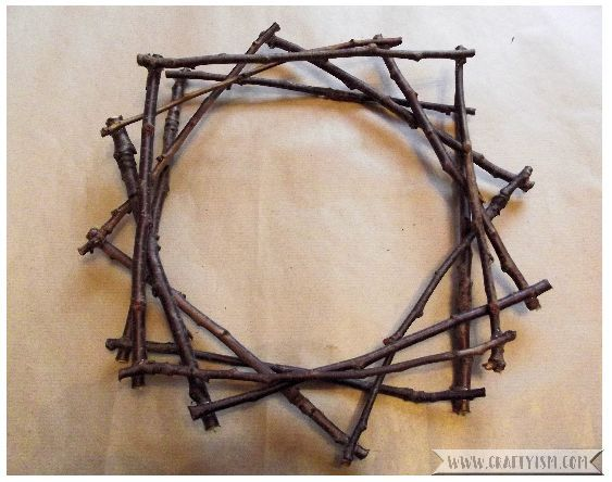 How to - Fairy Light Twig Star Wreath Step 4