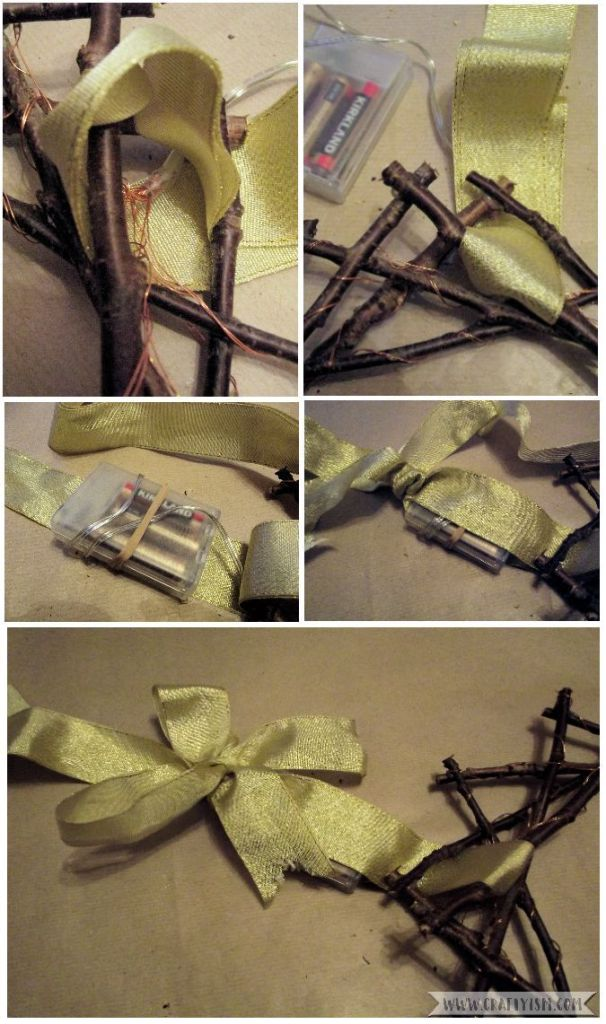 How to - Fairy Light Twig Star Wreath Step 6
