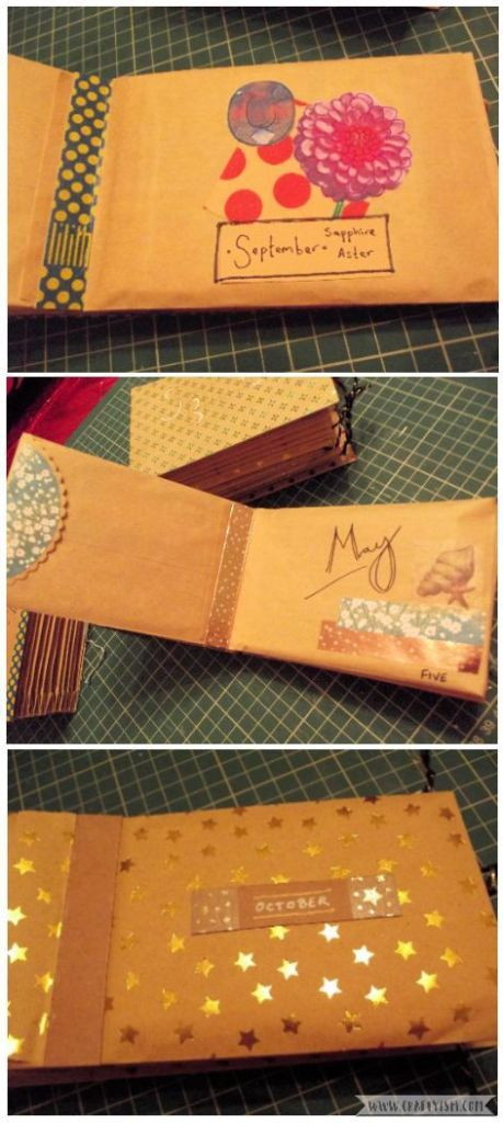 How to Make Easy Yearly Journal envelopes 2