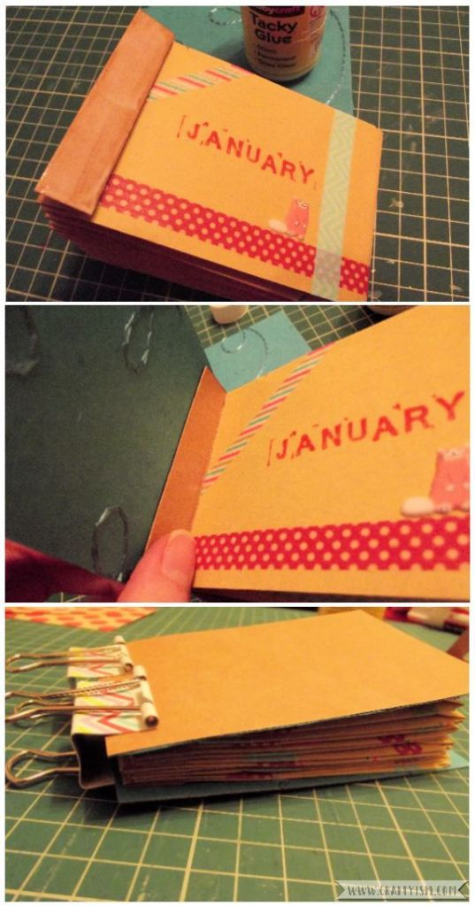 How to Make Easy Yearly Journal endpapers