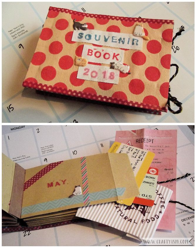 How to Make Easy Yearly Journal finished journal
