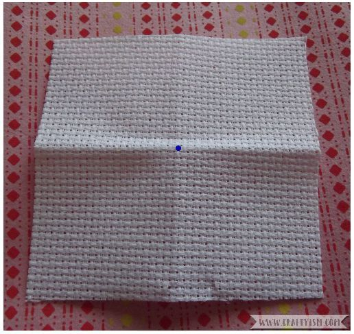 How to - beginners cross stitching fabric