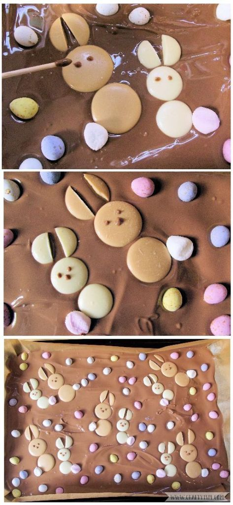 How to - Easter Bunny Chocolate Slab | Step 7 Add eyes