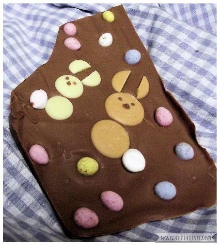 How to - Easter Bunny Chocolate Slab | Finished