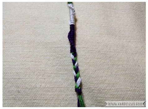 How to make - Suffragette Friendship Bracelets | Twisty bracelet plait