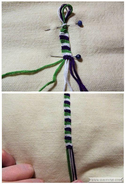 How to make - Suffragette Friendship Bracelets   Striped bracelet pin