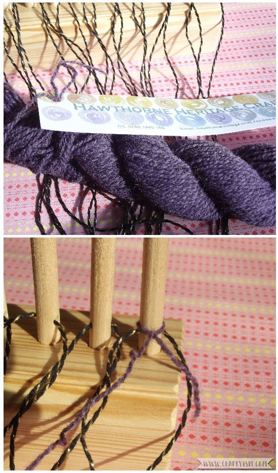 How to tutorial - Beginners Peg Loom | Warp thread