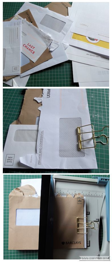 Craftyism - Upcycled Envelope Notebook | Paper Preparation