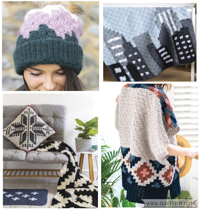 Review - Corner to Corner Crochet by Jess Coppom   contents