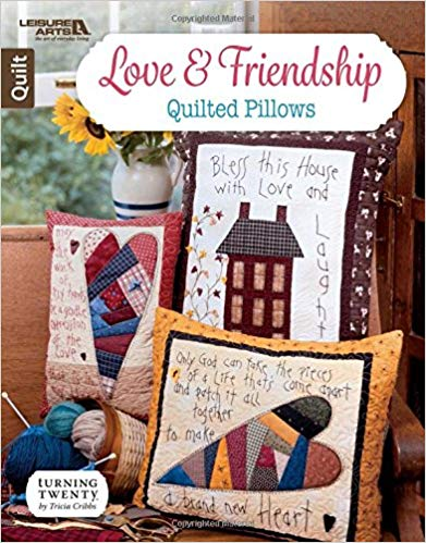 Craftyism - Valentine Gifts for Crafters | Love & Friendship Quilted Pillows by Tricia Cribbs