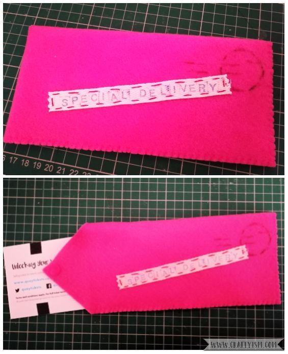 Craftyism - Sewn Gift Envelope for Tickets | Final