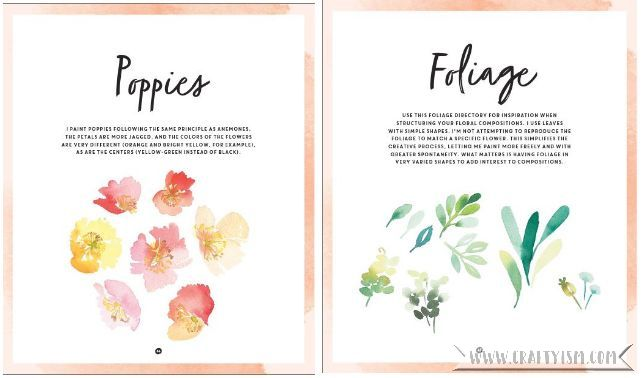 Craftyism book review - DIY Watercolor Flowers by Marie Boudon | instructions