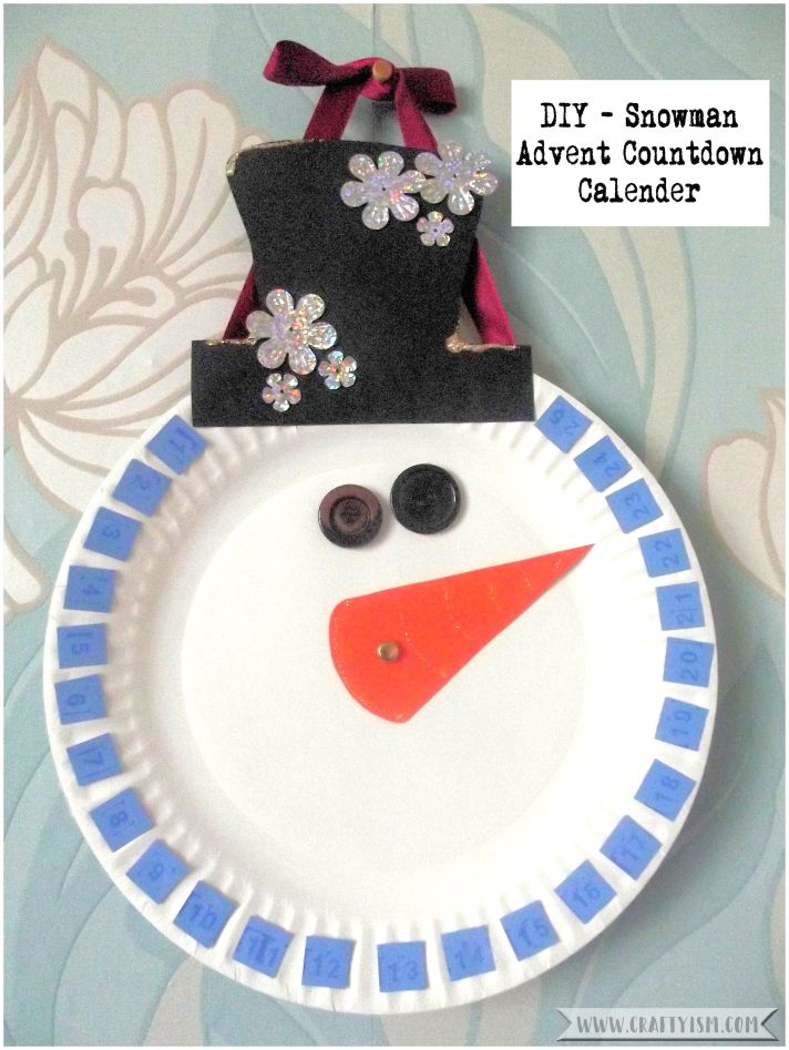 Craftyism | Snowman Christmas Countdown Calendar | Finished