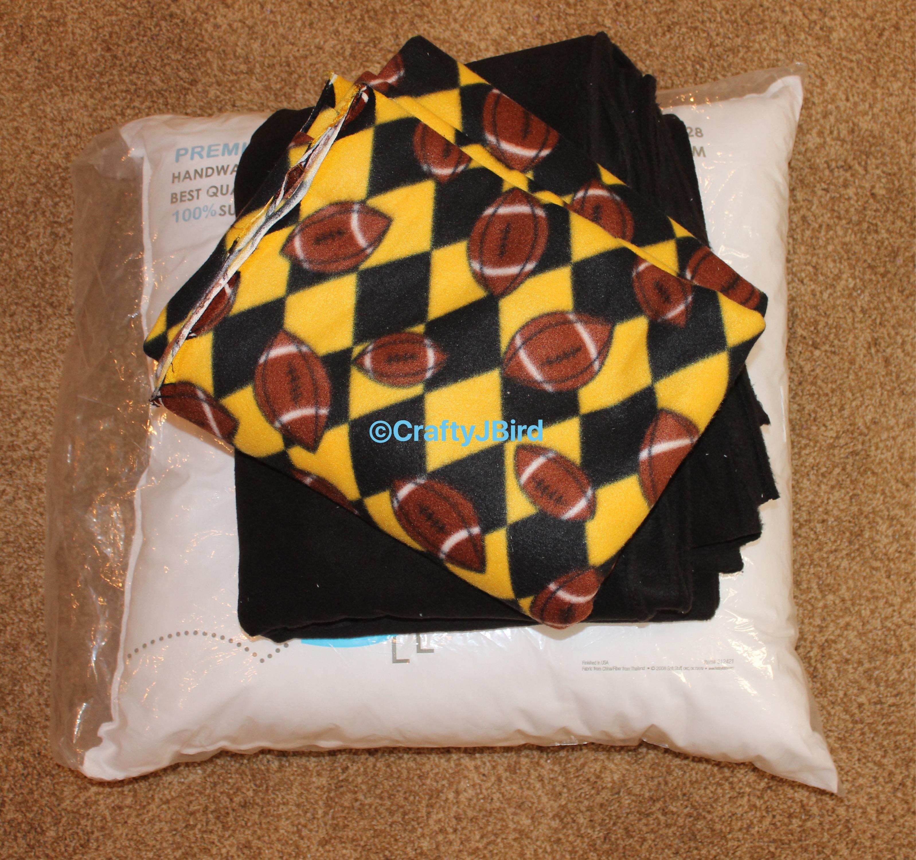 No-Sew Floor Pillow - Crafty JBird