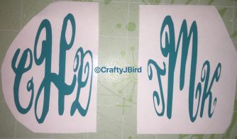 Monogram Cups -- Visit CraftyJBird.com for more info...