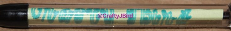 Personalized Pens -- Visit CraftyJBird.com for more info..