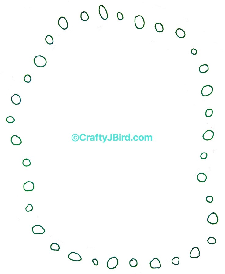 Mardi Gras Beads -- Visit CraftyJBird.com for more info...