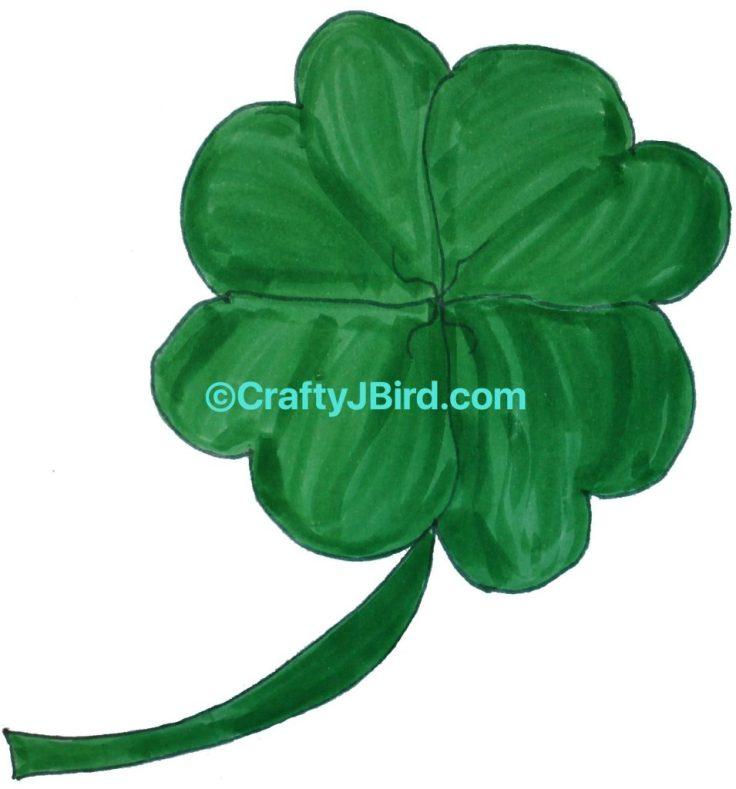 St. Patty's 4-Leaf Clover -- Visit CraftyJBird.com for more info...