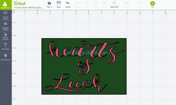 Hearts of Luck Double Page Layout -- Visit CraftyJBird.com for more info..