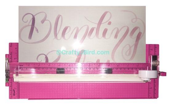 Calligraphy Brush Pens Blending Palette -- Visit CraftyJBird.com for more info...