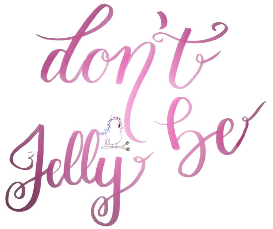 Don't Be Jelly Polka Dots -- Visit CraftyJBird.com for more info..