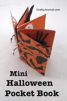 Mini Halloween Pocket Book by Crafty Journal
