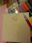 Pencil sketching of Olaf