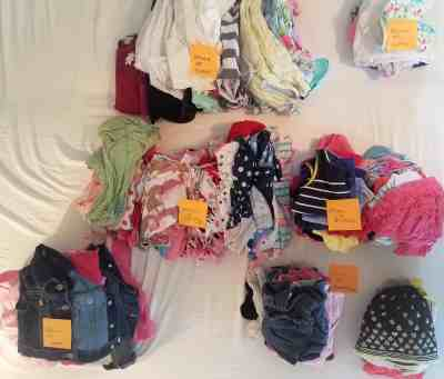 Sort clothes for storage