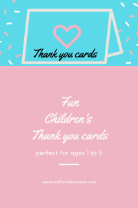 Get your bithday kid to help make super cute thank you cards for their birthday.