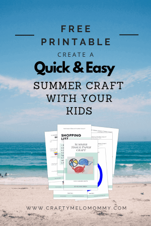 Simple summer craft to do with your kids. Includes FREE printable template.