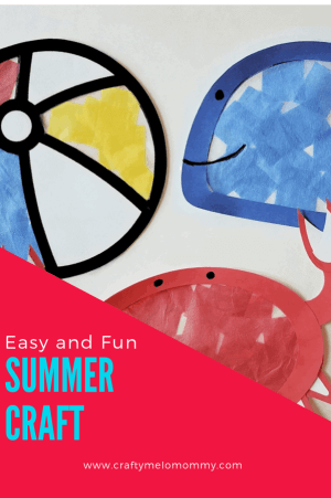 Fun summer craft for preschool. Easy enough for toddler or preschooler.