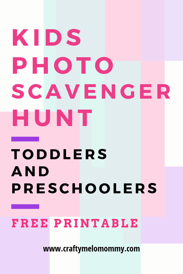 Toddlers and preschoolers will have tons of fun taking pictures with this scavenger hunt.