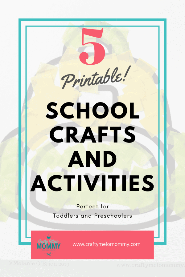 Simple back to school crafts and activities for your toddler or preschooler. Get them thinking about going back.