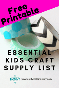 Essential kids craft supply list including a free printable list to make sure you have all the craft supplies you need to fill your child's craft box