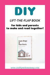 Make a children's lift-the-flap book with a FREE PRINTABLE and less than 10 supplies!