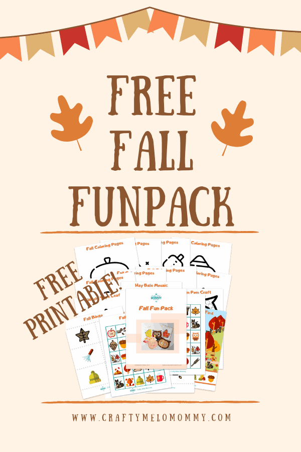 FREE PRINTABLE! Fall fun pack includes fall coloring pages, a felt owl craft, a pom pom owl craft, an autumn leaf craft, and more!! DOWNLOAD for templates, instructions and shopping list.