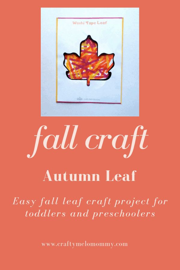 Simple autumn leaf craft for kids. Perfect for preschoolers to make this fall.