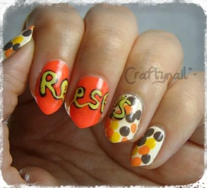 reeses candy nail art