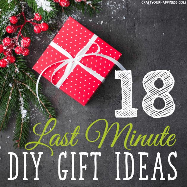 18 Last Minute DIY Christmas Gift Ideas
