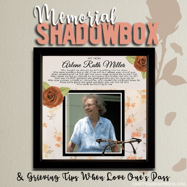 memorial shadow box grieving those