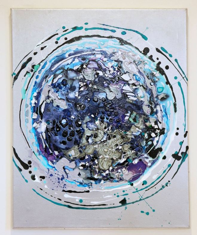 Helen Brook - Abstract acrylic canvas paintings