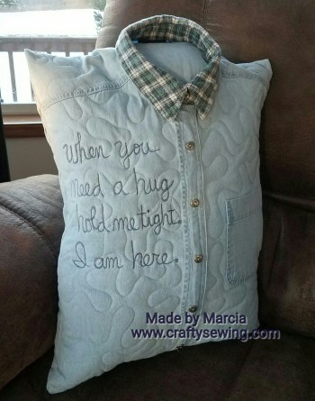 Quilted Memory Shirt Pillow