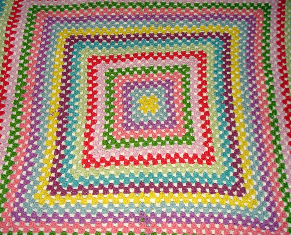 Work in process - Giant Granny Square Blanket