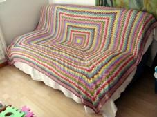 Crochet blanket finished