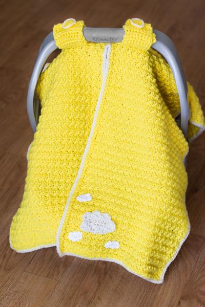 Car seat cover crochet