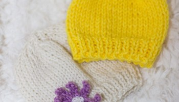 0a6ea2175d2 FREE Basic Newborn Knitted Hat Pattern (0 to 3 months old) - Crafty ...
