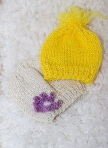 Knit baby hat for begginers