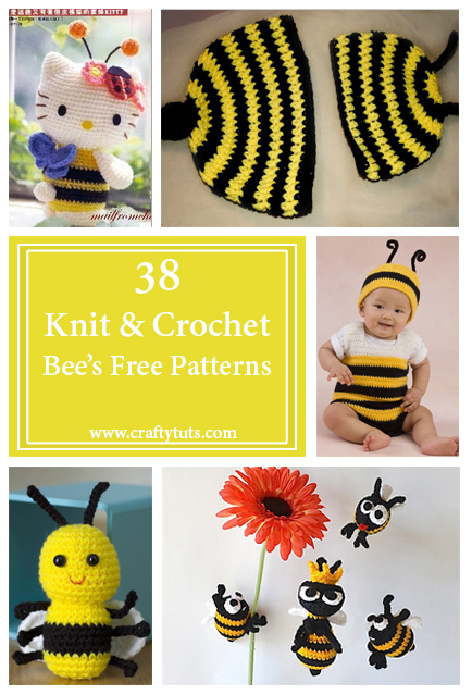 Knit and crochet free patterns - Bees 2