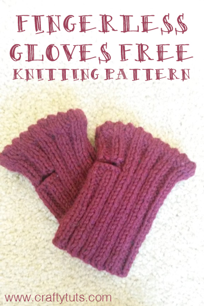 Short Fingerless Gloves Free Knitting Pattern Crafty Tutorials